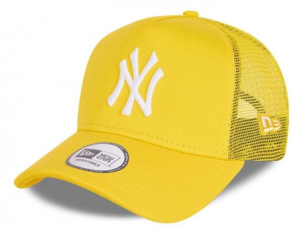 New Era - MLB New York Yankees Tonal Mesh Trucker Snapback Cap - Gelb Ansicht vorne schräg links