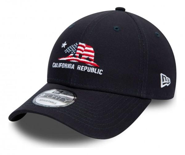 New Era - California 9Forty Strapback Cap - Blau Ansicht vorne schräg links