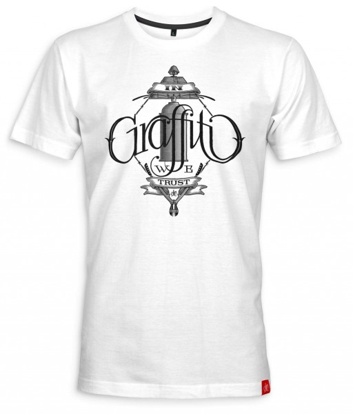 Ohm-One - In Graffiti We Trust T-Shirt - Weiß Vorderansicht
