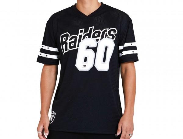 New Era - NFL Las Vegas Raiders Stripe Oversized T-Shirt - Schwarz Vorderansicht