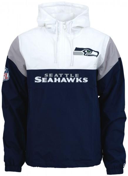 New Era - NFL New Seattle Seahawks Colour Block Windbreaker - Blau-Weiß-Grau ansicht vorderseite