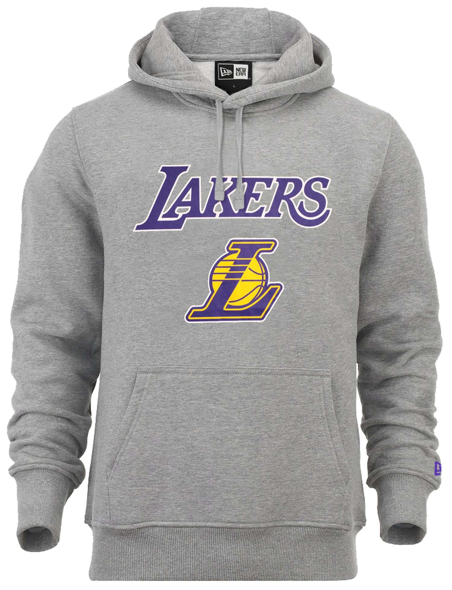 New Era NBA Los Angeles Lakers Team Logo Hoodie Grau