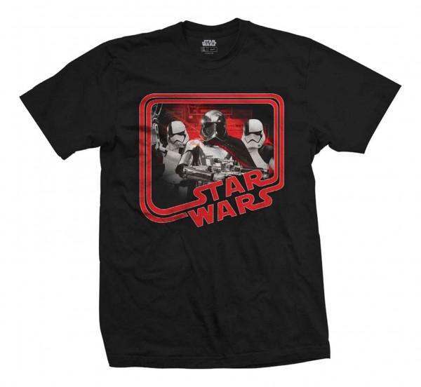 Bravado - Star Wars Episode 8 Phasma Retro T-Shirt - Schwarz Vorderansicht