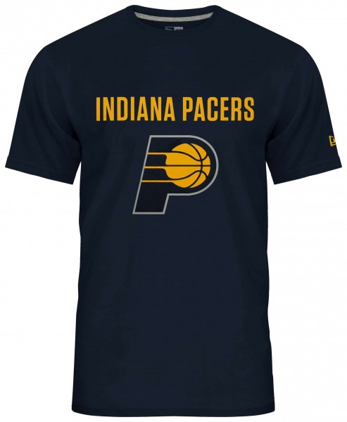 New Era - NBA Indiana Pacers Team Logo T-Shirt - Blau Vorderansicht
