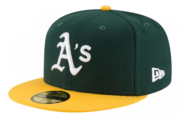 New Era - MLB Oakland Athletics Authentic Collection EMEA 59Fifty Fitted Cap - Grün Ansicht vorne schräg links