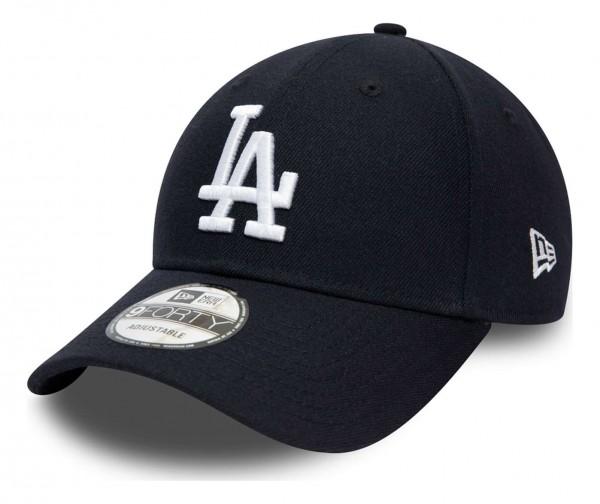 New Era - MLB Los Angeles Dodgers Team Contrast 9Forty Snapback Cap - Grau Ansicht vorne schräg links