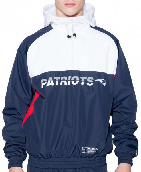 New Era - NFL New England Patriots Colour Block Windbreaker Jacke - Mehrfarbig Vorderansicht