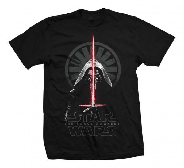Bravado - Star Wars Episode 7 Kylo Ren Shadows T-Shirt - Schwarz Vorderansicht