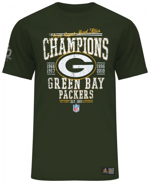Majestic Athletic - NFL Green Bay Packers Superbowl Throwback T-Shirt - Grün Vorderseite