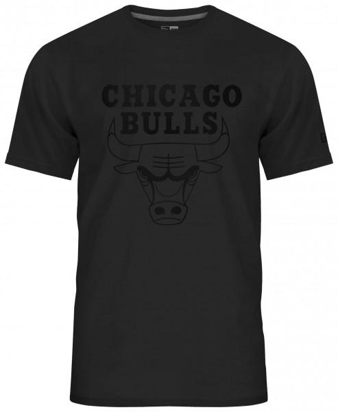 New Era - NBA Chicago Bulls Team Logo T-Shirt - Schwarz Vorderansicht