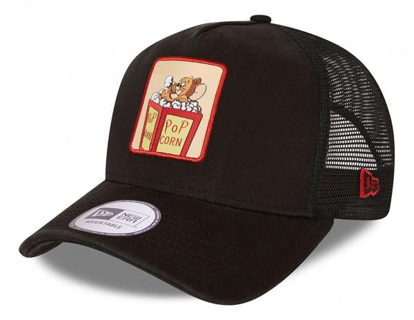 New Era - Tom and Jerry Trucker Snapback Cap - Schwarz Ansicht vorne schräg links
