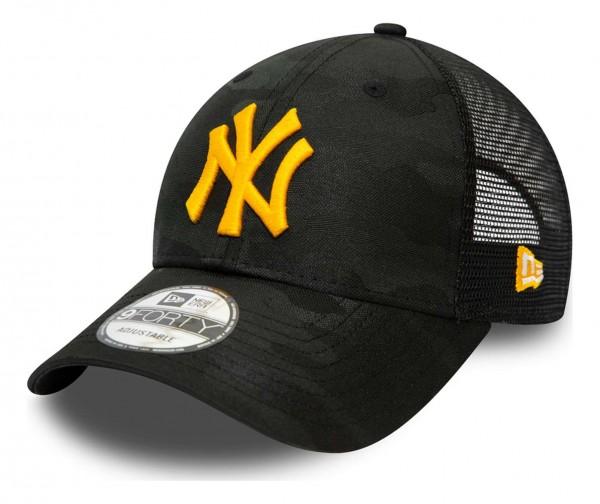 New Era - MLB New York Yankees Home Field 9Forty Trucker Strapback Cap - Weiß Ansicht vorne schräg links