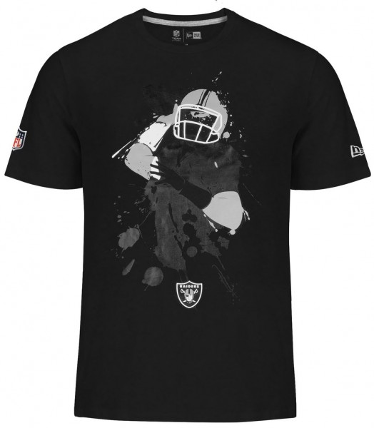 New Era - NFL Oakland Raiders Q Back Splash T-Shirt - black