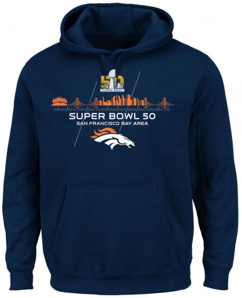 Majestic Athletic - NFL Super Bowl 50 Winners Collection - Denver Broncos Hoodie MDB2742NL - navy