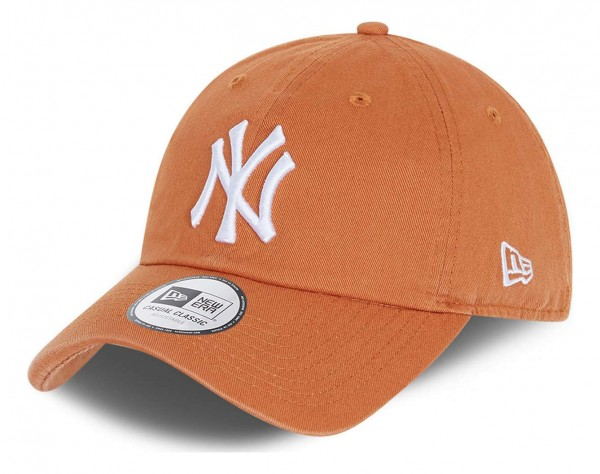 New Era - MLB New York Yankees Team Casual Classic 9Twenty Strapback Cap - Orange Ansicht vorne schräg links