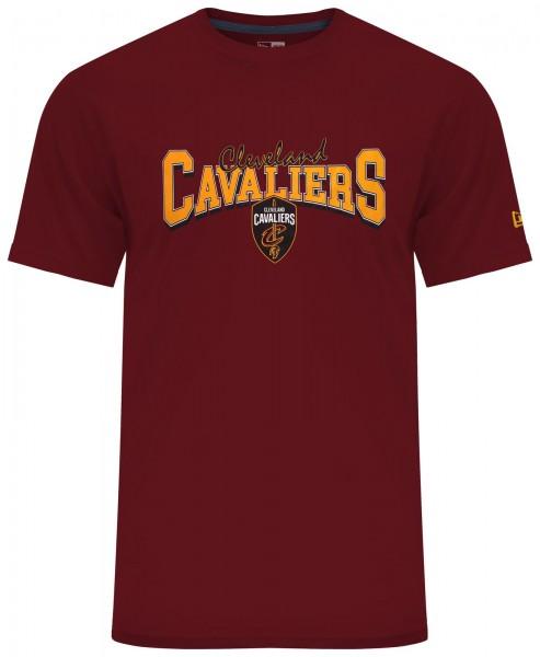 New Era - NBA Cleveland Cavaliers Apparel T-Shirt - Rot Vorderansicht