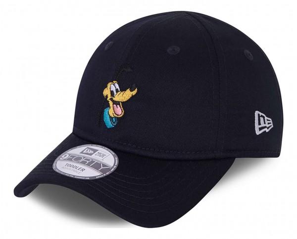 New Era - Disney Pluto Character 9Forty Kids Strapback Cap - Blau Ansicht vorne schräg links