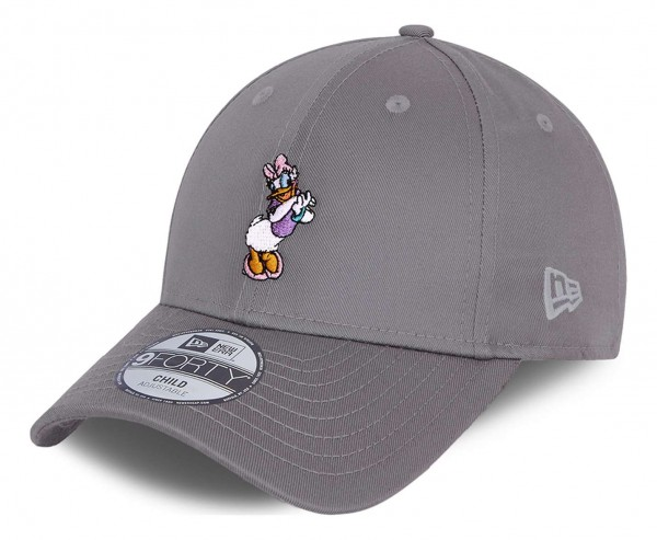 New Era - Disney Daisy Duck Character 9Forty Kids Strapback Cap - Grau Ansicht vorne schräg links