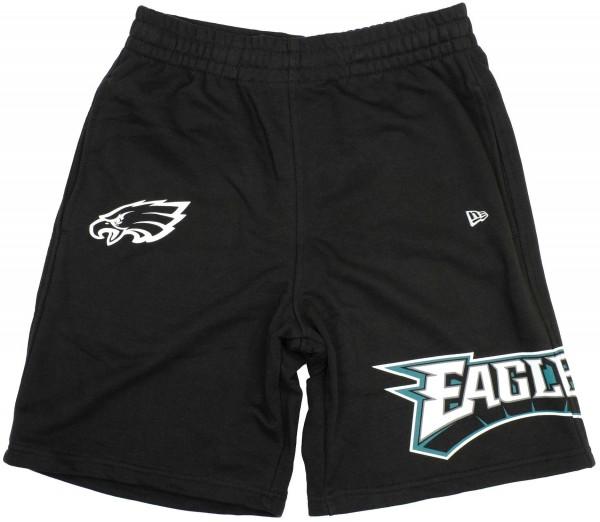 New Era - NFL Phildelphia Eagles Wrap Around Shorts - Schwarz Vorderansicht
