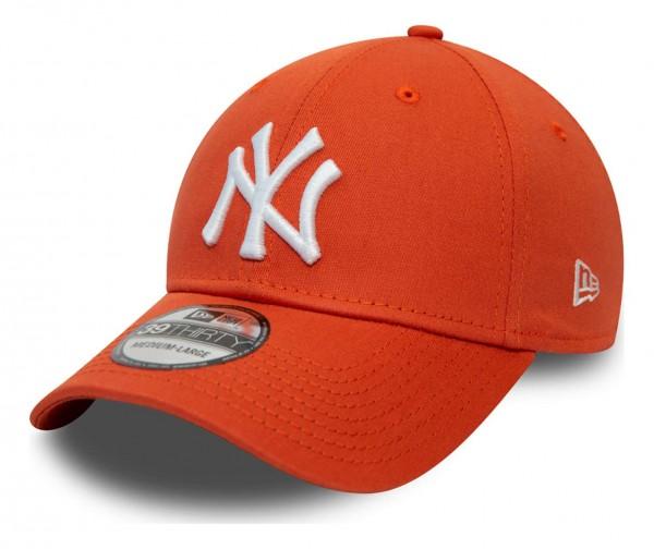 New Era - MLB New York Yankees League Essential 39Thirty Stretch Cap - Grau Ansicht vorne schräg links