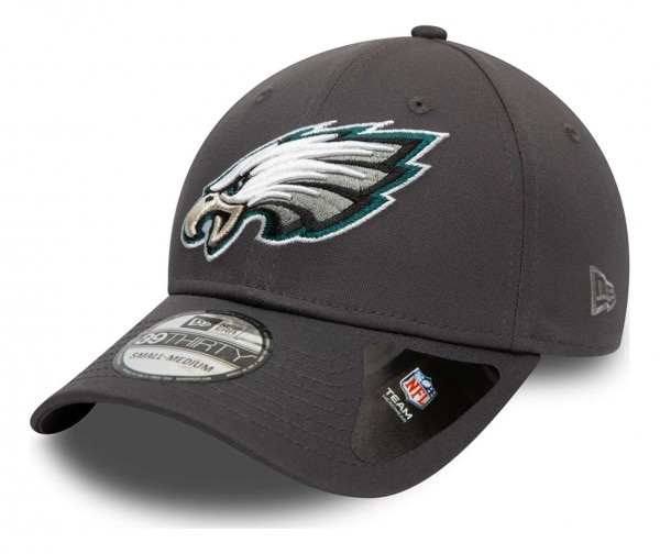 New Era - NFL Philadelphia Eagles Team 39Thirty Stretch Cap - Grau Ansicht vorne schräg links