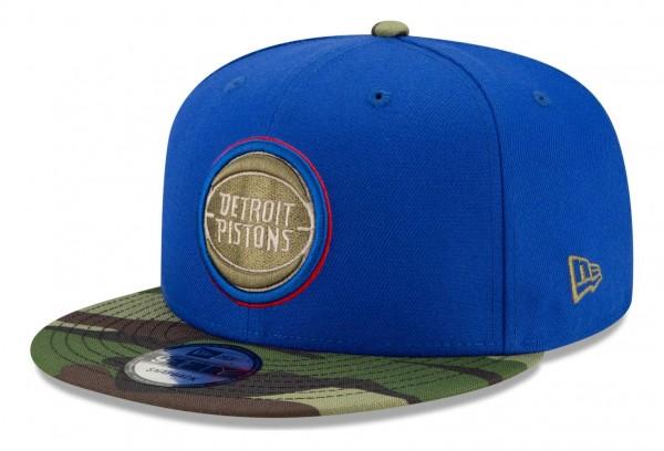 New Era - NBA Detroit Pistons ASG Camo 9Fifty Snapback Cap - Blau Ansicht vorne schräg rechts