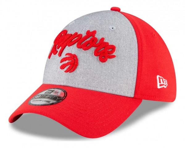 New Era - NBA Toronto Raptors 2020 Draft Edition 39Thirty Stretch Cap - Rot Ansicht vorne schräg links