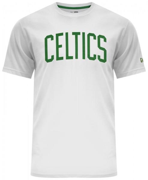 New Era - NBA Boston Celtics Team Apparel pop Logo T-Shirt - Weiß