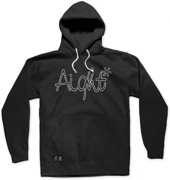 Aight* - OG Logo Outline - Schwarz Ansicht Vorderseite