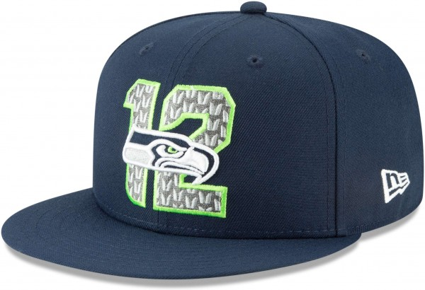 New Era - NFL Seattle Seahawks Draft 2019 On-Stage 9Fifty Snapback Cap - Blau