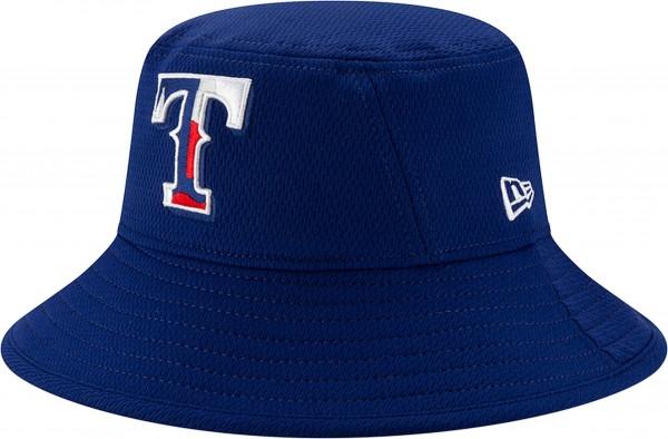 New Era - MLB Texas Rangers 2020 Batting Practice Bucket Hut - Blau Ansicht schräg links