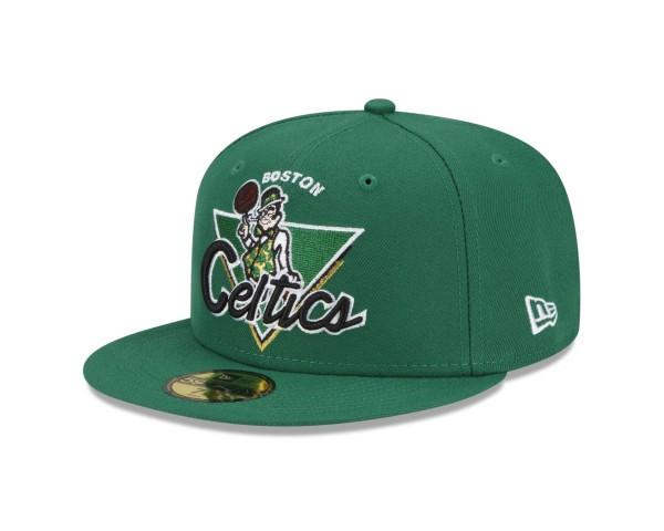 New Era - NBA Boston Celtics 2021 Tip Off 59Fifty Fitted Cap - Grün Ansicht vorne schräg links