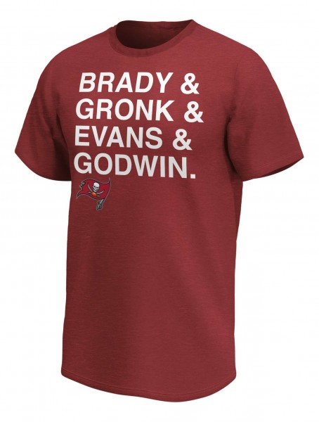 Fanatics - NFL Tampa Bay Buccaneers B-G-E-G T-Shirt - Rot Vorderansicht
