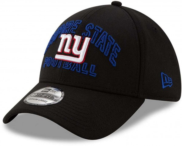 New Era - NFL New York Giants 2020 Draft Alternative 39Thirty Stretch Cap - Schwarz Ansicht vorne schräg links