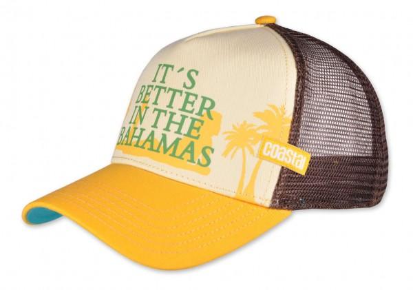Coastal - Bahamas Trucker Snapback Cap - Mehrfarbig Ansicht vorne schräg links