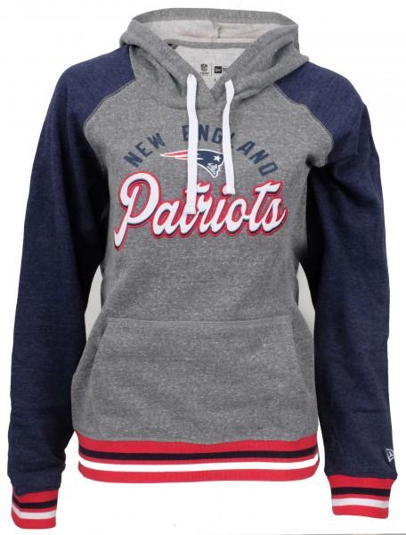 New Era - NFL New England Patriots Damen Hoodie - Grau Vorderansicht