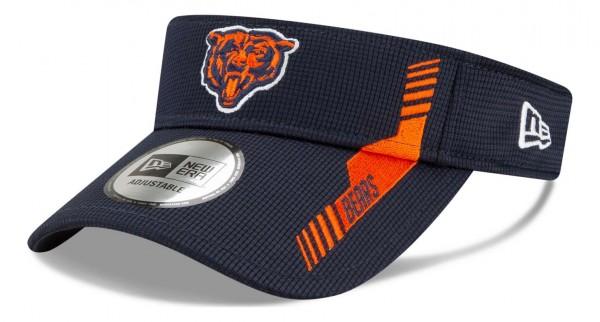 New Era - NFL Chicago Bears 2021 Sideline Home Visor - Blau Ansicht vorne schräg links