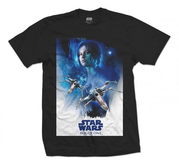 Bravado - Star Wars Rogue One Jin X-Wing T-Shirt - Schwarz Vorderansicht