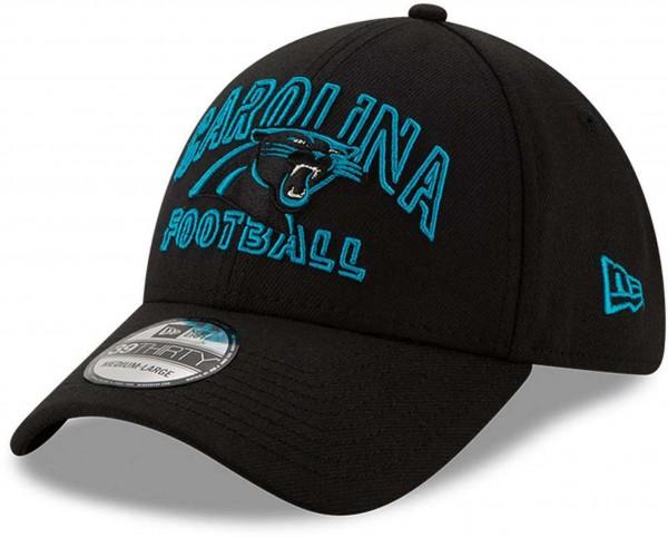 New Era - NFL Carolina Panthers 2020 Draft Alternative 39Thirty Stretch Cap - Schwarz Ansicht vorne schräg links