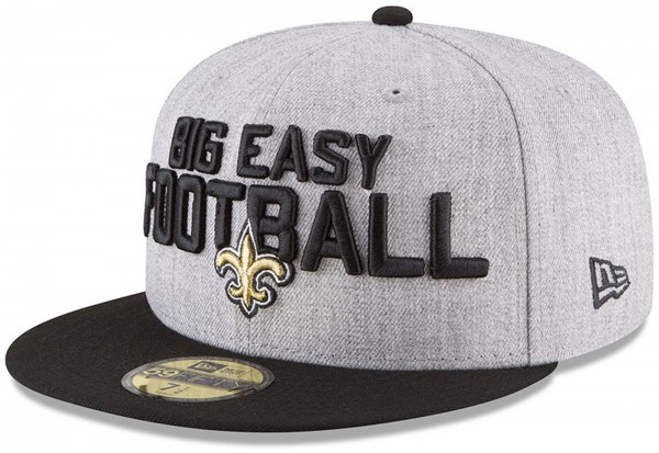 New Era - NFL New Orleans Saints Draft 2018 On Stage 59Fifty Cap - Grau-Schwarz