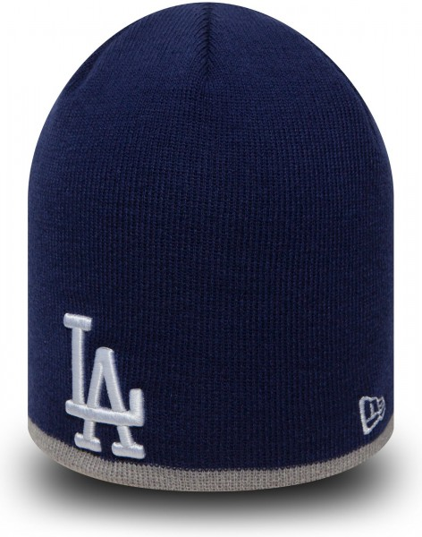 New Era - MLB Los Angeles Dodgers Team Knit Skull Beanie - Blau