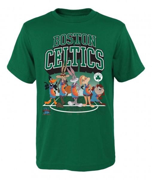 Outerstuff - NBA Boston Celtics Space Jam Tunes on Court T-Shirt - Grün Vorderansicht
