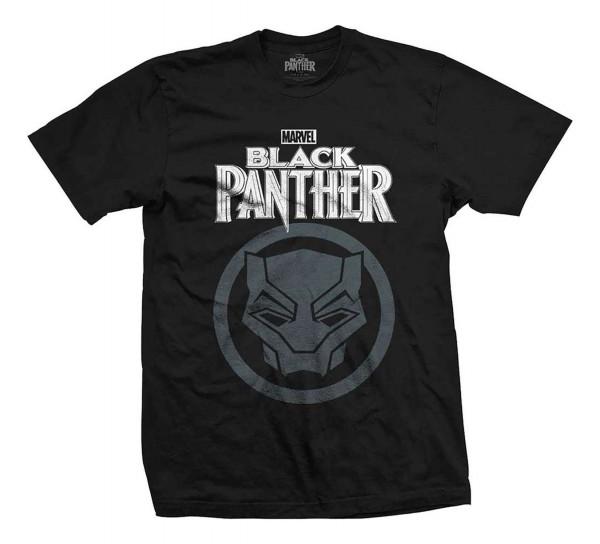Bravado - Marvel Comics Black Panther Big Icon T-Shirt - Schwarz Vorderansicht