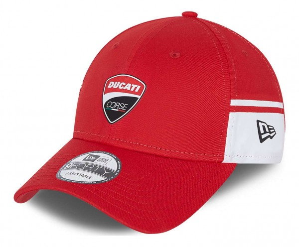 New Era - Ducati Side Print 9Forty Strapback Cap - Rot Ansicht vorne schräg links