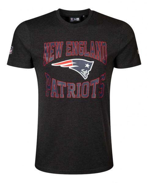 New Era - NFL New England Patriots Team Logo T-Shirt - Grau Vorderansicht