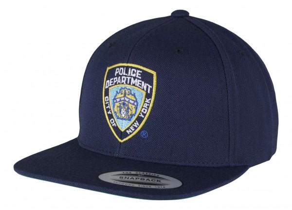 Mister Tee - NYPD Snapback Cap - Blau Ansicht vorne schräg links