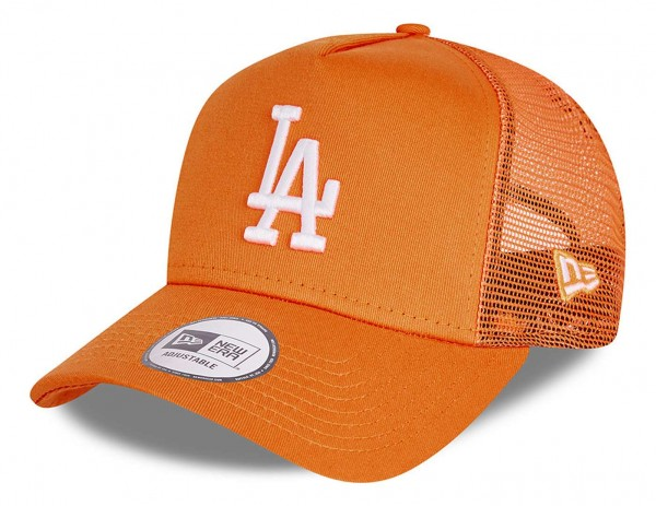 New Era - MLB Los Angeles Dodgers Tonal Mesh Trucker Snapback Cap - Orange Ansicht vorne schräg links