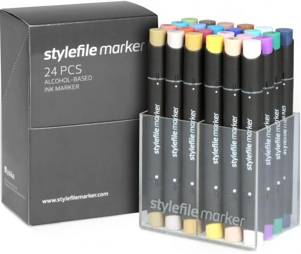 Stylefile - Marker 24er Set Layoutmarker - Main B