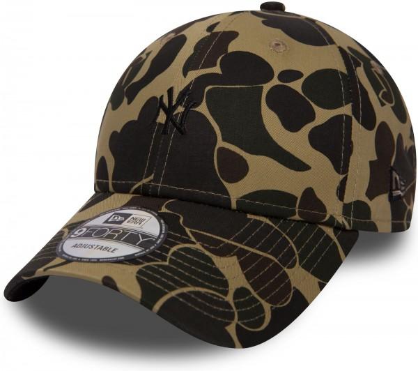New Era - MLB New York Yankees Camo 9Forty Strapback Cap - Camouflage Ansicht schräg vorne