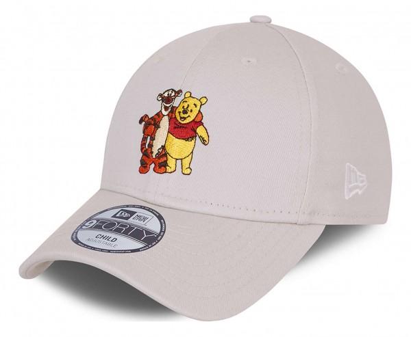 New Era - Disney Winnie the Pooh Character 9Forty Kids Strapback Cap - Beige Ansicht vorne schräg links